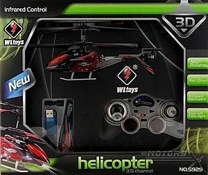 Вертолёт с автопилотом WL Toys (красный), WL-S929r, фото