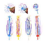 Вертушка на палочке, 25 см. (5 штук), PR17, іграшки