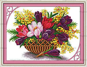 Весенняя феерия, вышивка картины крестиком, H344