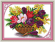 Весенняя феерия, вышивка картины крестиком, H344, отзывы