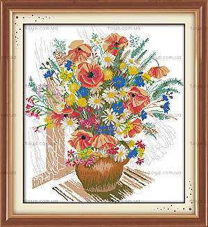 Весенний букет, весенняя картина для вышивки, H241