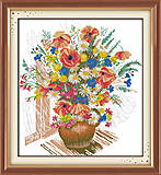 Весенний букет, весенняя картина для вышивки, H241, фото