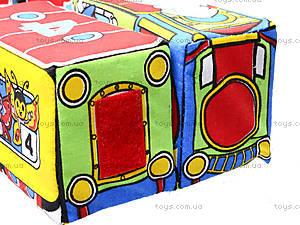 Кубики на липучках «Весёлый паровозик», , купить