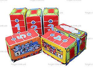 Кубики на липучках «Весёлый паровозик», , фото