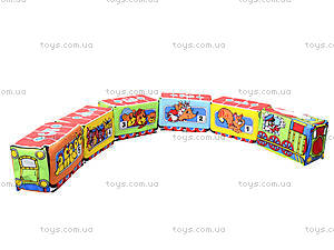 Кубики на липучках «Весёлый паровозик», , отзывы
