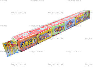 Кубики на липучках «Весёлый паровозик», , цена