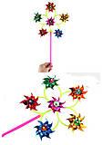 Ветрячок - 6 цветков 7 см , SC20456, детские игрушки