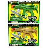 Военный набор оружия на батарейках музыка-вибрация, 2 цвета, HY9005-56, детские игрушки