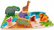 Вкладыши деревянные «Дикие животные» Hape, E1455