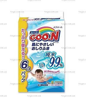Влажные салфетки для чувствительной кожи GOO.N, 733432