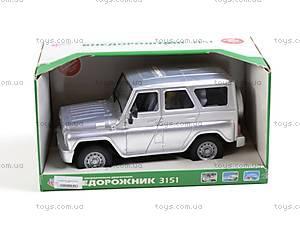 Внедорожник инерционный «Автопарк», серебристый, 9122Е