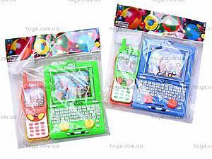 Водяная игра «Телефон» с ноутбуком, 686J/3686F, купить