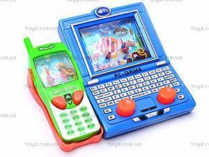 Водяная игра «Телефон» с ноутбуком, 686J/3686F