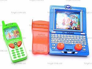Водяная игра «Телефон» с ноутбуком, 686J/3686F, игрушки