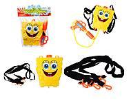 Водяное оружие с рюкзаком для воды Sponge Bob, 3500D-2, toys