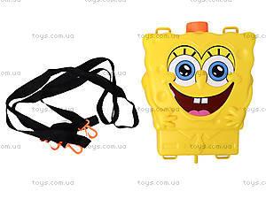 Водяное оружие с рюкзаком для воды Sponge Bob, 3500D-2, детские игрушки