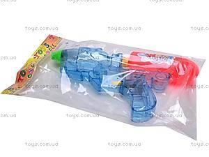 Водяной пистолет, прозрачный, 305-2, игрушки