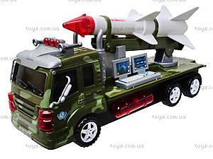 Музыкальная военная машина с ракетой, ZF0888, игрушки