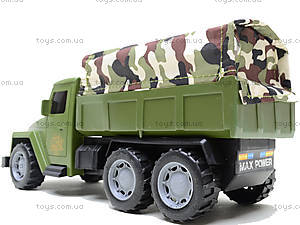 Военный грузовик с солдатами и техникой, 237-3181B1, детские игрушки
