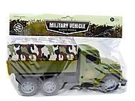 Военный грузовик с солдатами и техникой, 237-3181B1