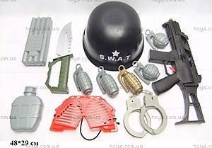 Военный набор с каской и наручниками, 0055-J42