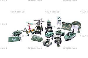 Военный набор для игры с транспортом, 177-38