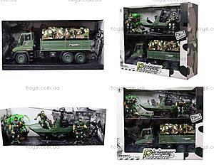 Военный набор с солдатами и машинками, KD009-5