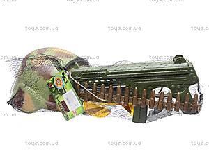 Военный набор оружия с каской, 66693