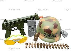 Военный набор оружия с каской, 66693, цена