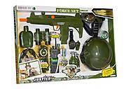 Военный набор оружия с каской и маской, 34340, фото