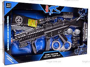 Военный набор, с автоматом и наручниками, 0063, купить