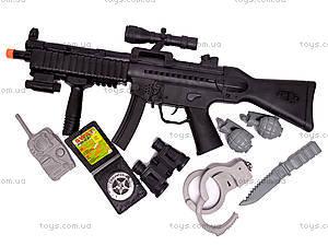 Военный набор, с автоматом и наручниками, 0063