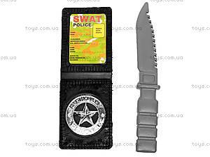 Военный набор, с автоматом и наручниками, 0063, игрушки