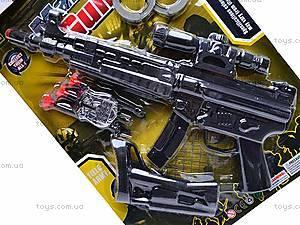 Военный набор с автоматом и наручниками, 5083, купить