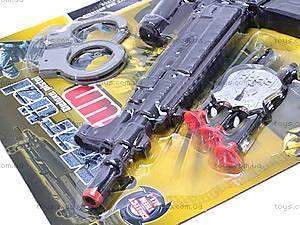 Военный набор с автоматом и наручниками, 5083, игрушки
