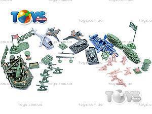 Военный набор с солдатиками и картой, 0120A