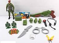 Военный набор (солдатик, оружие, рация, наушники), 88695, отзывы