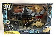 Военный набор (вертолет, палатка, бтр, 2 военных), D3109-34, купить игрушку