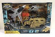 Военный набор (2 военных, бтр, истребитель), D3109-36, купити