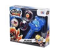 Волчок Auldey Infinity Nado Атлетик Fiery Blade с устройством запуска, YW624502, toys.com.ua