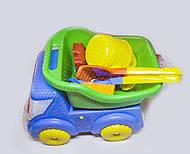 Вольво машинка с игрушками для песочницы, Л-013-13
