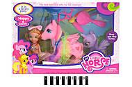 Виниловая фигурка пони с аксессуарами, SM518-1, купить