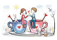 Вышивка бисером «Кофейная любовь», ВБ 2029, фото
