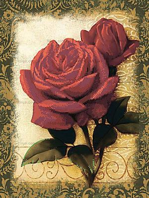 Вышивка бисером «Красные розы», ВБ 1027