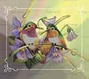 Вышивка бисером «Пара птиц», ВБ 2000