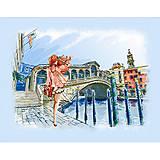 Вышивка бисером «Прогулка по Венеции», ВБ 1039, фото