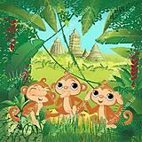 Вышивка бисером «Три обезьянки», ВБ 1052