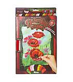 Вышивка гладью «Красные маки», VGL-01-10, купить