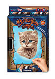 Вышивка гладью по номерам на растяжке «Котик», VGL-01-03, детский