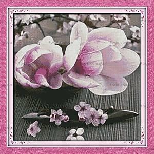 Вышивка картины «Цветущие магнолии», H267